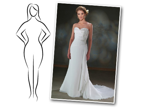 Finding the best wedding dress for your hourglass shape for Wedding dresses for larger figures